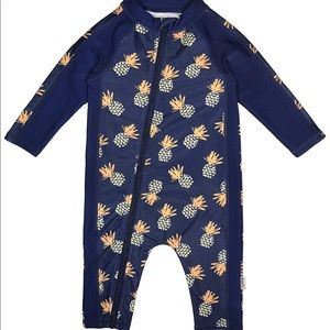 12-18M Pineapple Print Long Sleeve Swimsuit